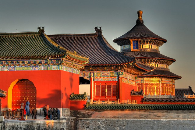 Sunrise at Temple of Heaven