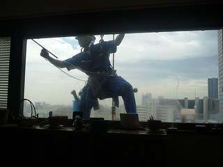 Window cleaning... Japanese style   by dichohecho