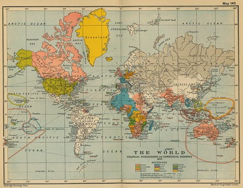 1910 world map   by surrealpenguin