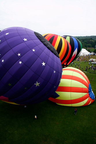 Quechee Balloon Festival from above | by Night Owl City