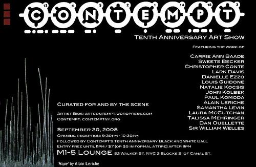 Contempt's Tenth Anniversary Art Show