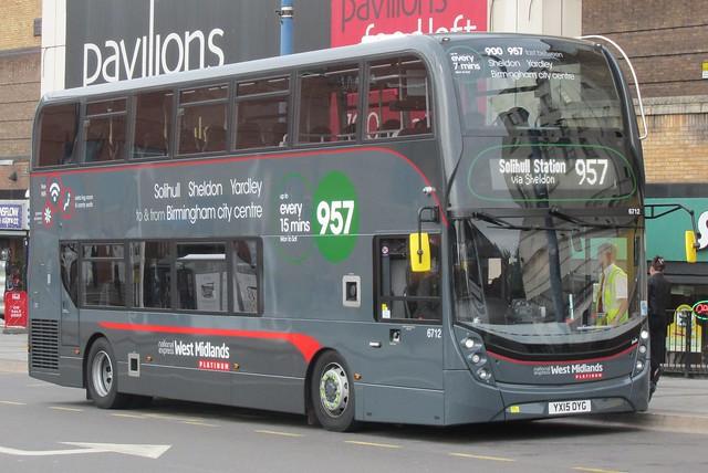 National Express West Midlands Alexander Dennis Enviro400 MMC 6712 (YX15 OYG)