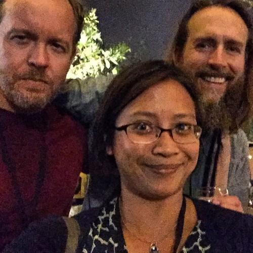 Epic #Beer #Selfie w/ @StoneGreg & @DrewCurtis at #HopCon !! WOW! #PinchMe