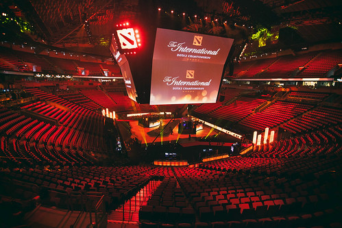 The Stage Just Before Doors Open on Day 1 | by Dota 2 The International