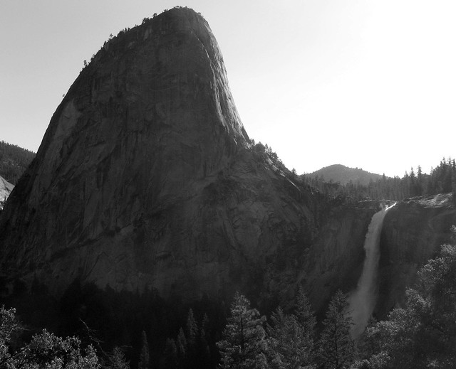 Liberty Cap and Nevada Falls from the Muir Trail