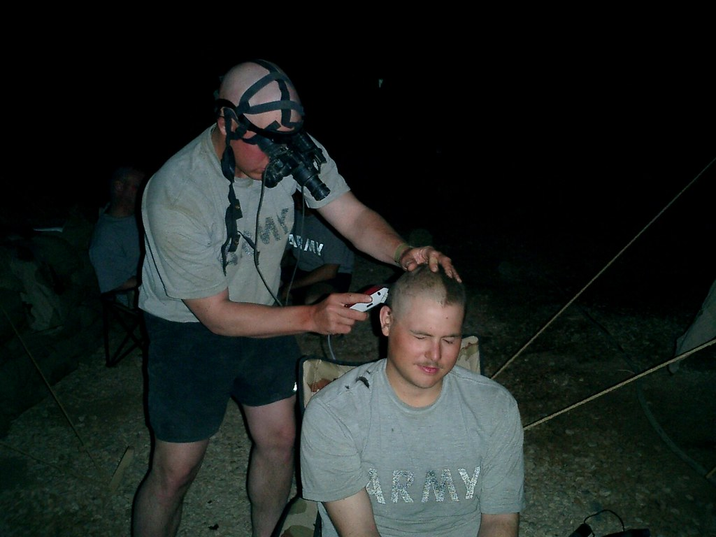 Late night haircut   When you work all day and most nights ...