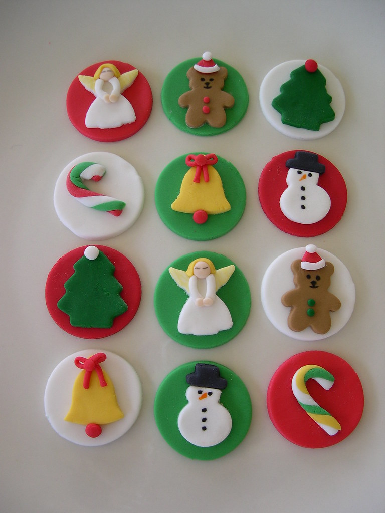 Christmas Cupcake Toppers.Christmas Cupcake Toppers All Toppers Designed And Hand Ma