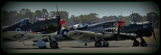CAC Boomerang, Spitfire Mk VIII & CAC Wirraway