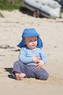 Philip on the beach at Old Grimsby - Tresco