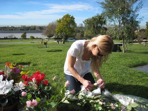 Jess arranging flowers | by sfkat