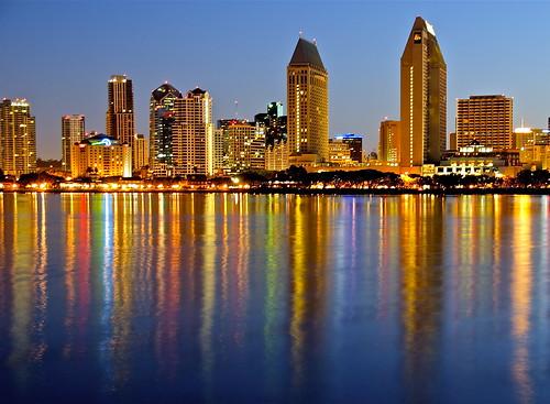 city reflection skyline sunrise bay san flickr downtown cityscape diego tony coronado scape flickrmeet meet