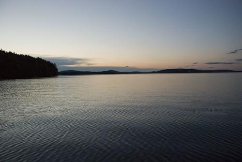 sunset lake beautiful maine belgradelakes