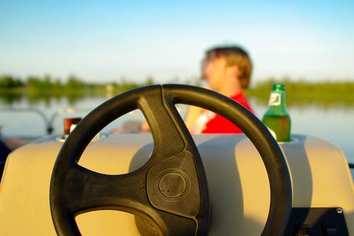 friends sunset lake boat july4th pontoon