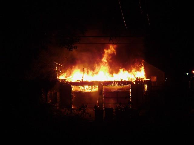 Burning Garage 1