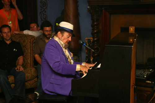 Dr. John performs a solo set in the Foundation Room at Piano Night 2010 (Photo by Jef Jaisun)