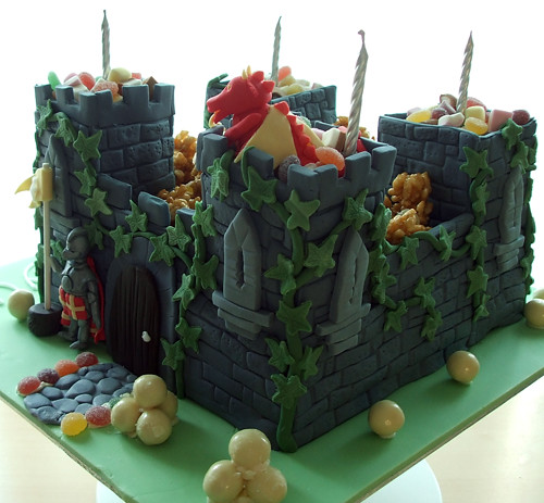 Boys Birthday Castle Cake