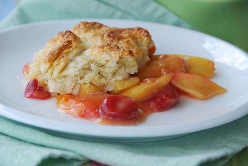 apricot cherry cobbler | by Food Blogga