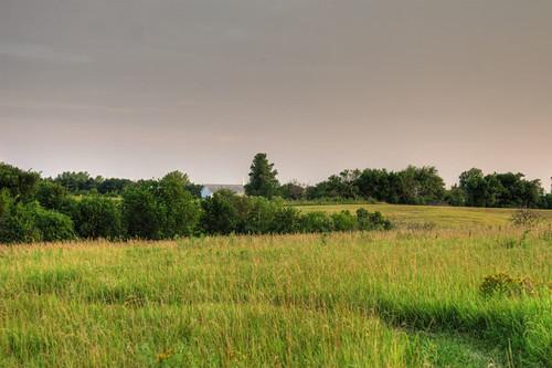 church field dusk ks kansas prairie hdr tonemapped mclouth