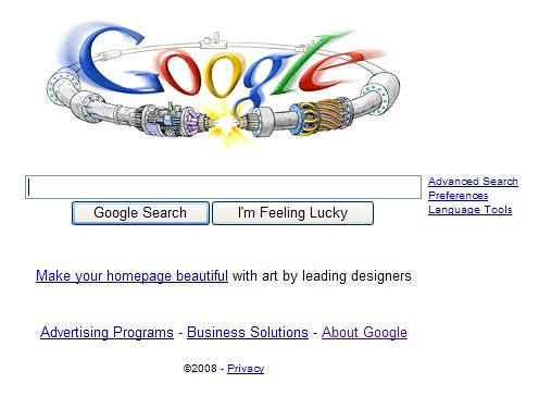 Google homepage celebrates launch of the Large Hadron Coll… | Flickr