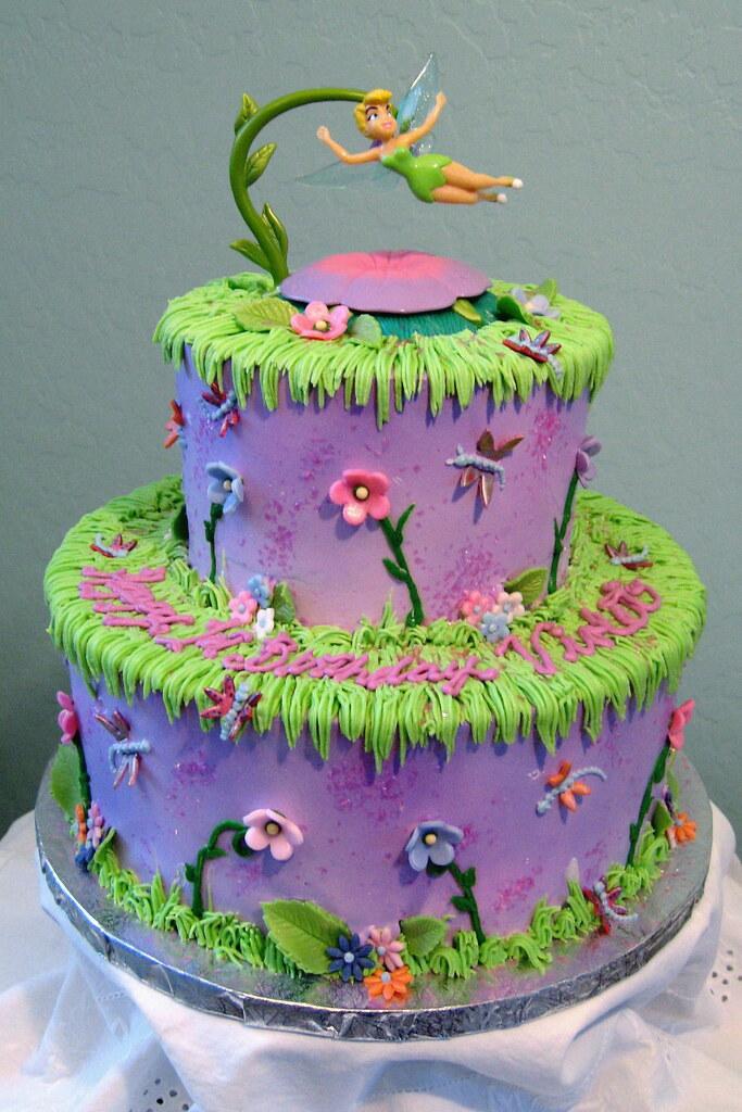 Incredible Tinkerbell Birthday Cake Tinkerbell Birthday Cake Flickr Personalised Birthday Cards Paralily Jamesorg