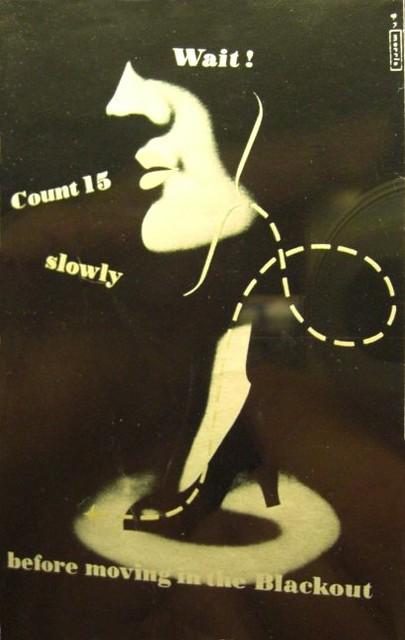 WW2 'Blackout' poster | British WW2 poster warning pedestria