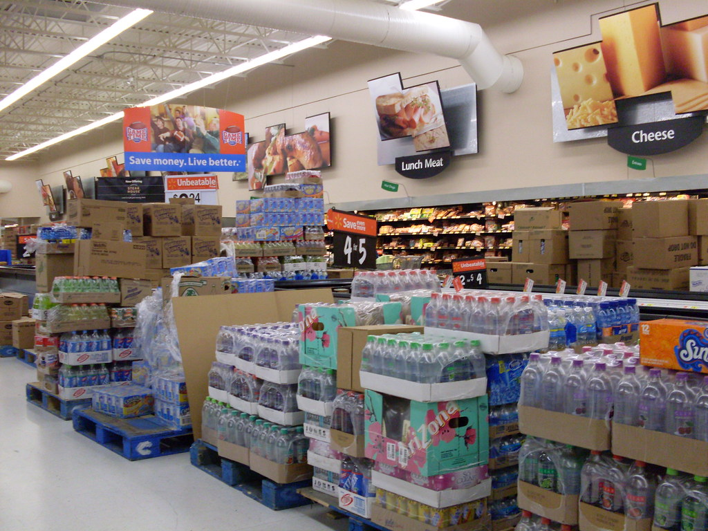 Wal-Mart Supercenter grocery interior | The interior of ...