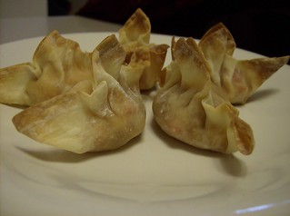 More Vegan Wontons - Baked Sweet Potato and red pepper filled! | by TAVALONIA