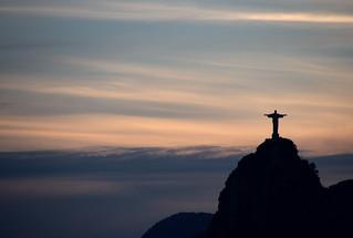 Christ Redeemer at sunset | by Christian Haugen