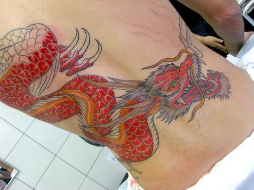 Tatuagem Dragão Red Dragon Tattoo | by micaeltattoo