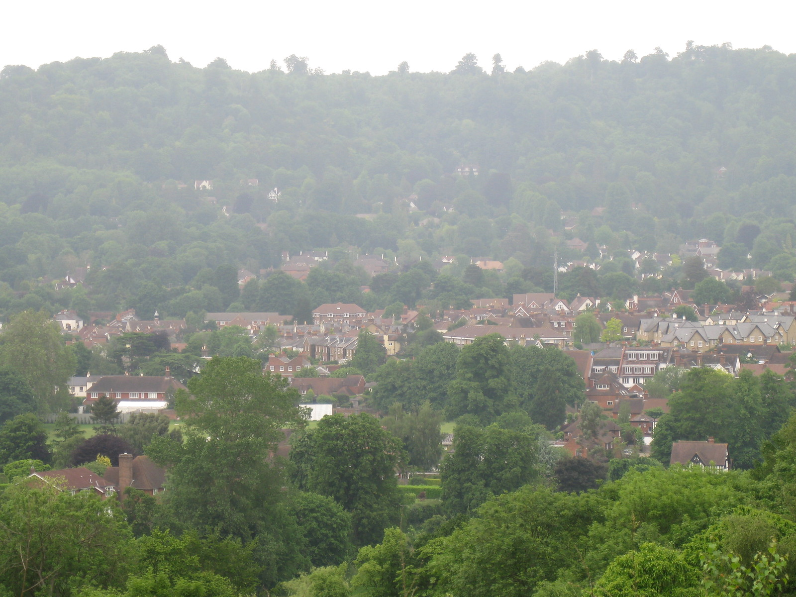 View towards Reigate
