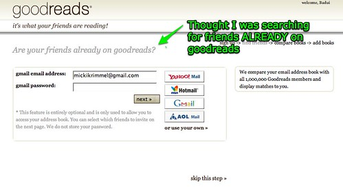 How Goodreads tricked me into spamming my address book Part 1 | by Mickipedia