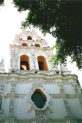 Baroque towers of the Templo del Espiritu Santo (