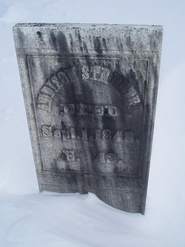 winter cemetery vermont ludlow vt