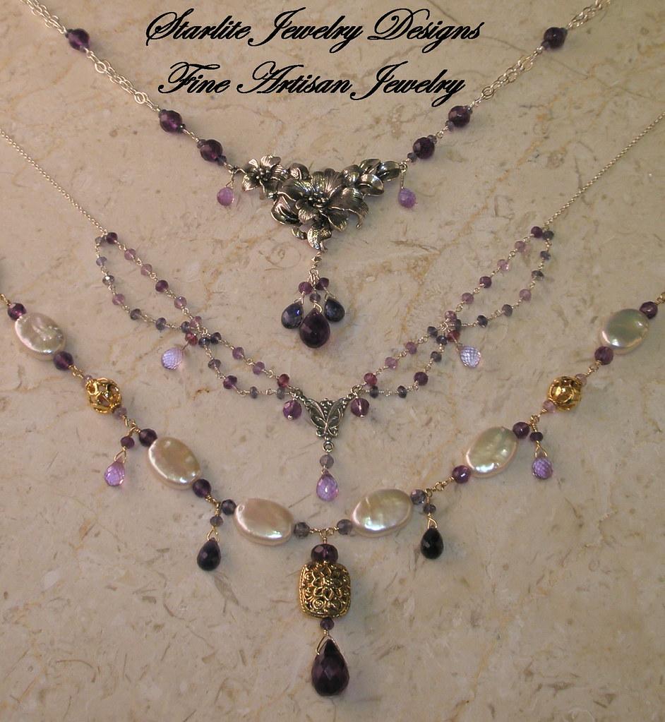 Starlite Jewelry Designs ~ Briolettte Necklace ~ Handmade