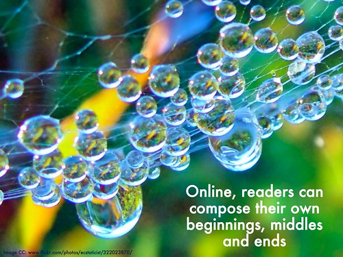 online readers compose their own beginning middle end | by lynetter