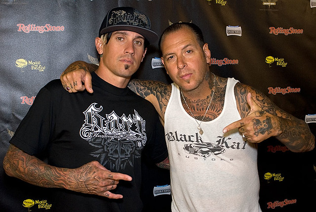 Carey Hart and Mike Ness