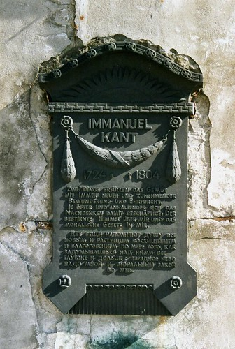 Иммануил Кант / Immanuel Kant memorial tablet, Pregel Bridge, Kaliningrad | by sludgegulper