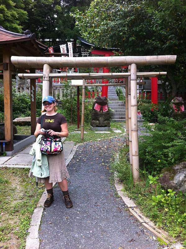 Erin at a sub-shrine at Fushimi Inari
