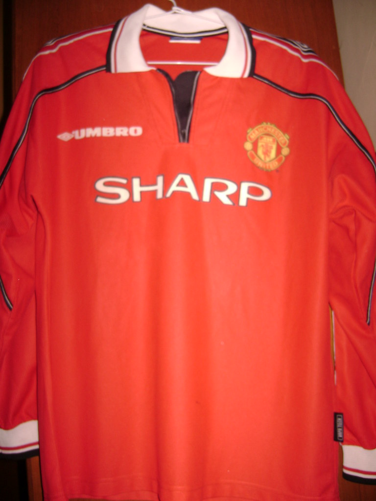 huge selection of f9412 27759 Man United FC Home Shirt for EPL 98/00