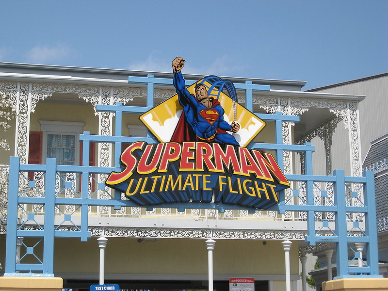 Superman: Ultimate Flight Sign at Six Flags Great America