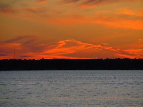 sunset landscape michigan cadillac lakemitchell lakemitchel