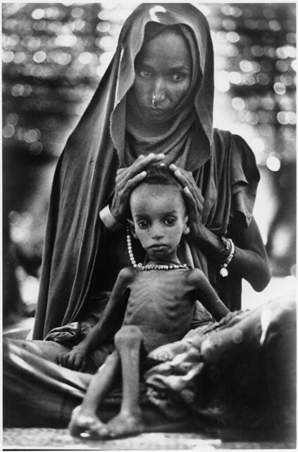 Mother and Starving Child