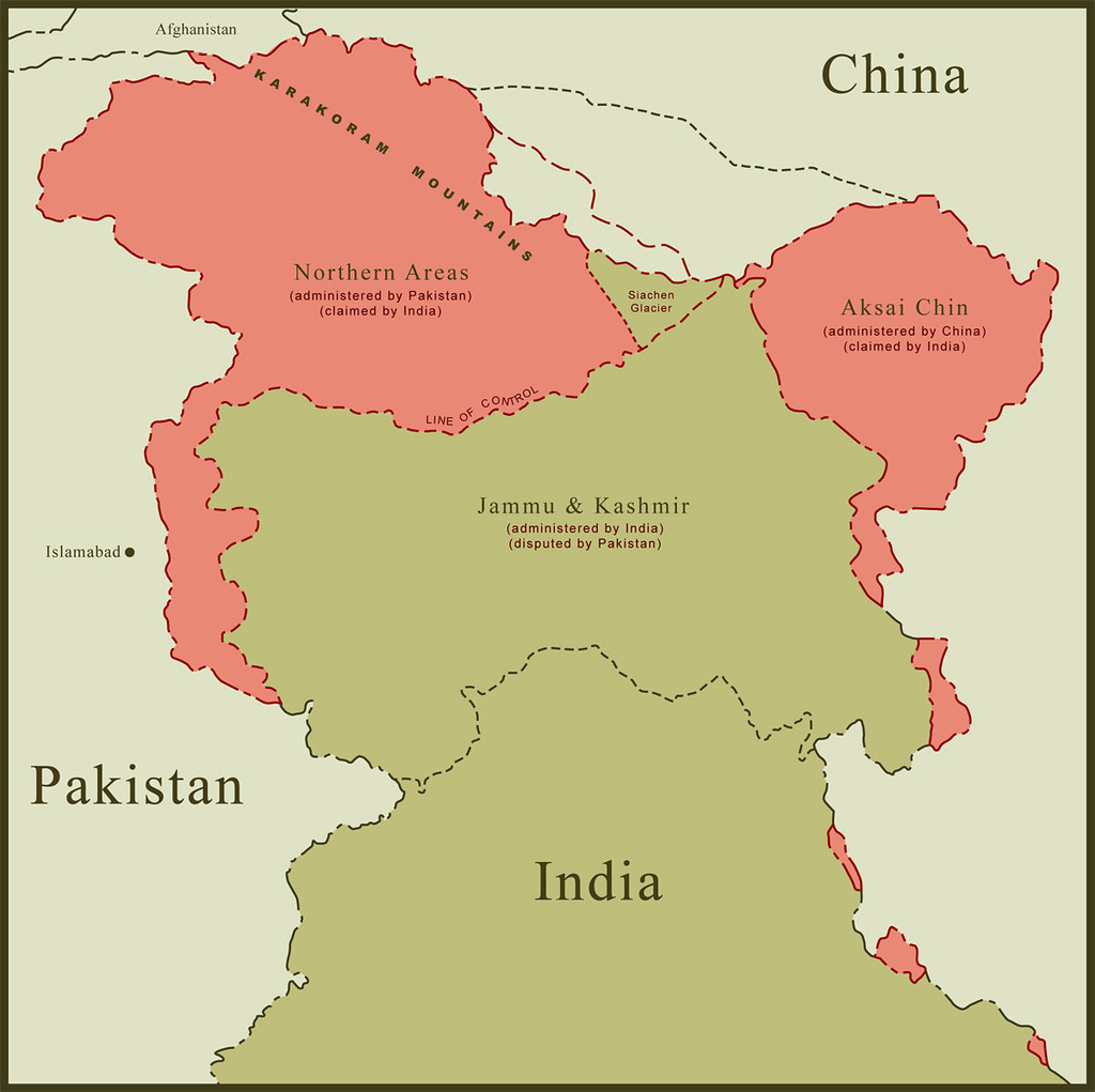 map jammu and kashmir border Map Of Kashmir Border Disputes This Is A Map Of Kashmir Re Flickr map jammu and kashmir border
