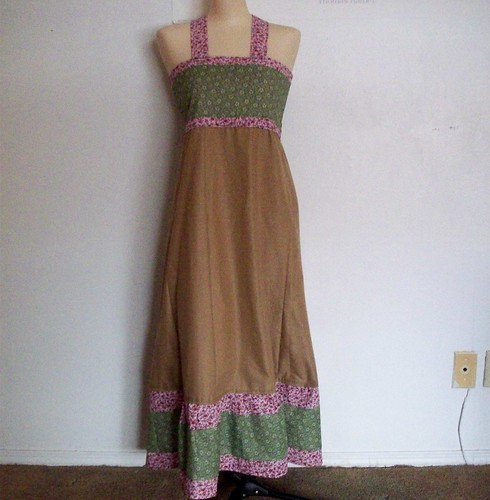 Brown, Pink, and Green Dress | by Banana Pants Clothes