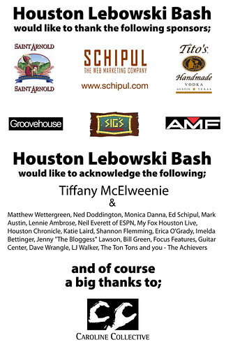 Thank You from the Houston Lebowski Bash | by deneyterrio