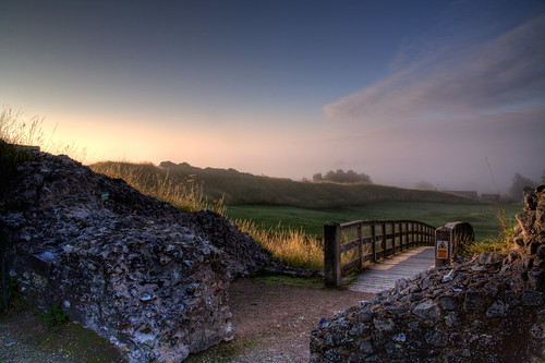 mist castle sunrise dawn norfolk castleacre
