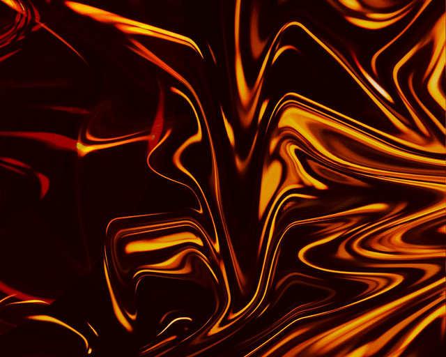Orange And Black Abstract Light Painting Katy Silberger