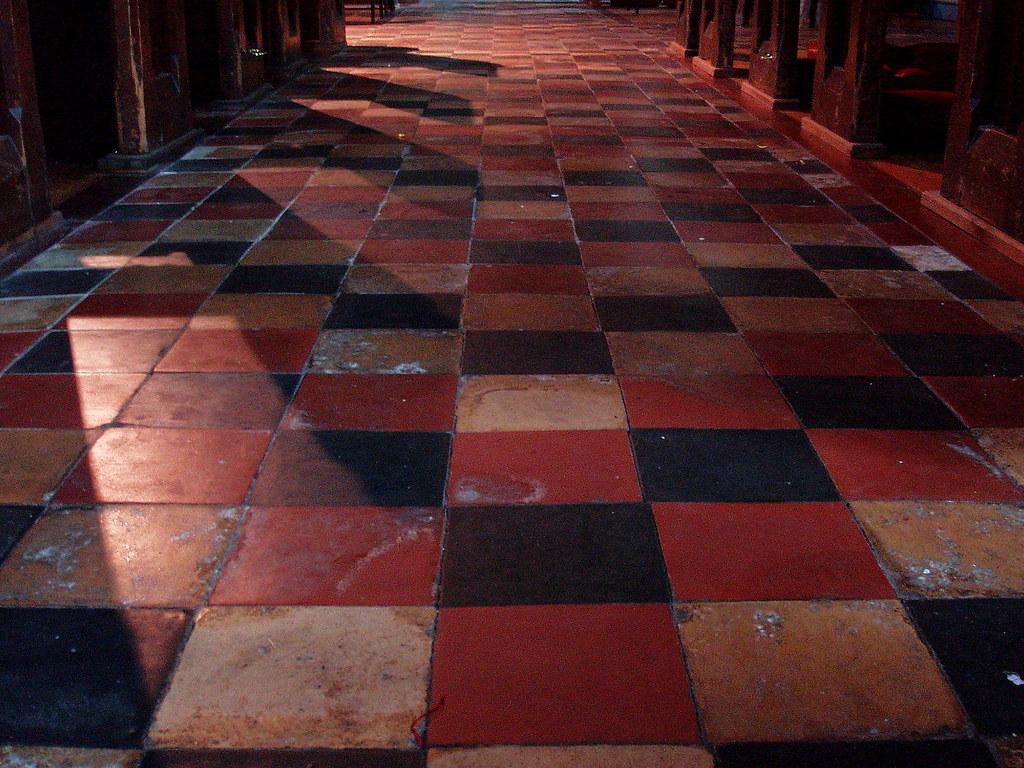 Holy Trinity Long Itchington Quarry Tile Floor | Love the ti