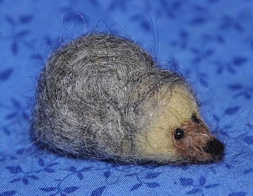 Felted Hedgehog | by littlesisterhandmade