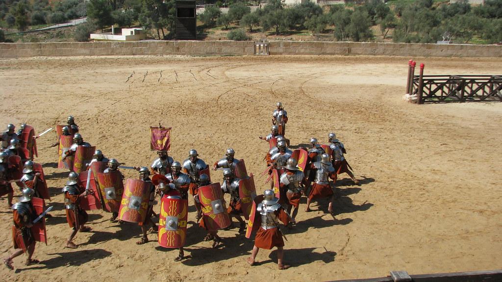 Roman soldiers fighting | Dale Gillard | Flickr